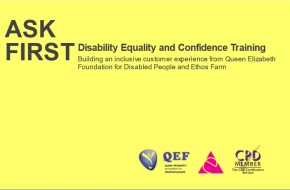 ASK FIRST Disability Equality and Confidence Training
